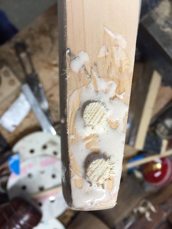 Red Ink Cricket - Cricket bat toe repair example - 5